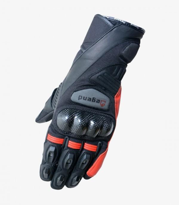 Men's Summer Gloves Degend ONE R Black and Red