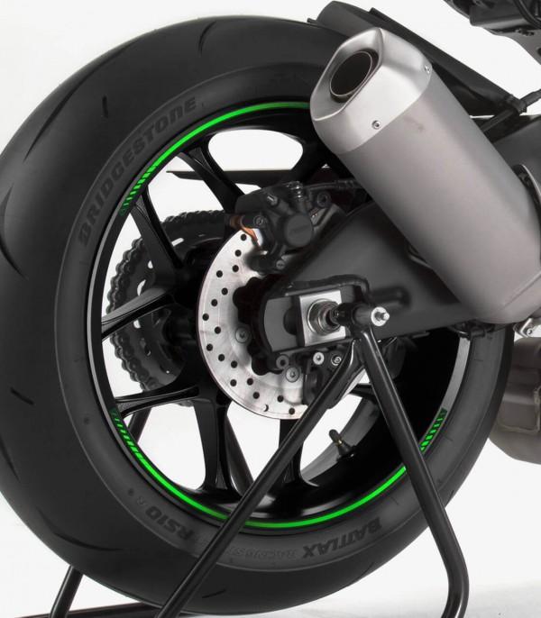 Tira en arco premium verde flúor Puig para llanta de moto