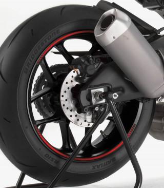 Tira en arco premium rojo flúor Puig para llanta de moto