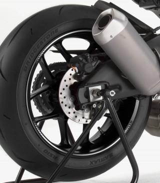 Tira en arco premium blanco flúor Puig para llanta de moto
