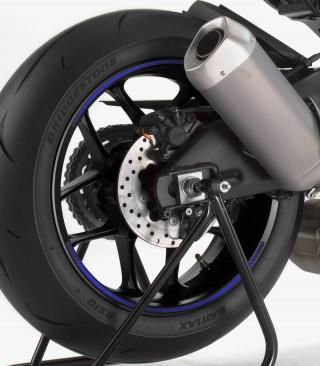 Tira en arco premium azul flúor Puig para llanta de moto