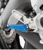 Estriberas Racing de Puig para moto en color azul