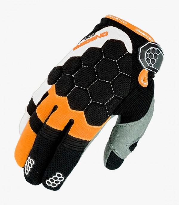 Guantes Infantiles de Motocross KX-3 de On Board en color Naranja / Blanco / Negro