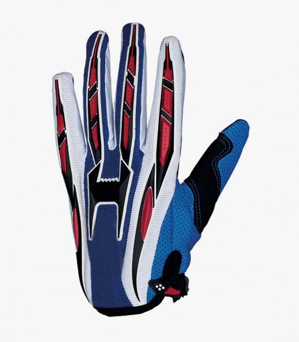 Guantes Azules de Motocross y Enduro Shiro MX-01