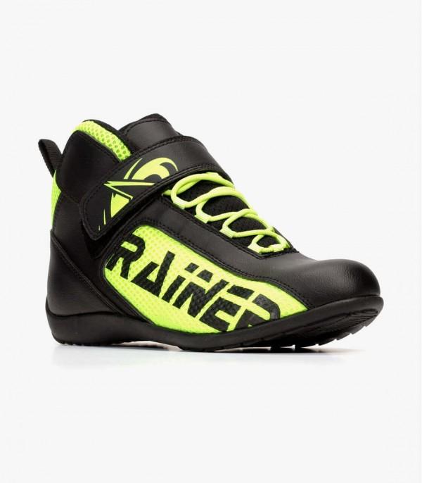Botas de moto unisex Rainers T100-F negro y fluor