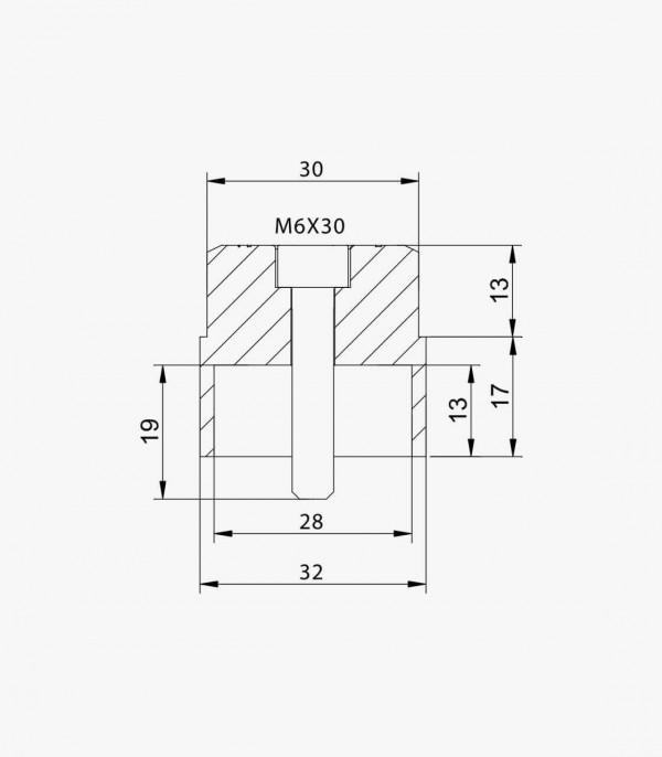 Adaptador retrovisor Puig 9500N lado derecho e izquierdo