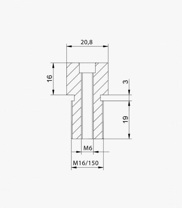 Adaptador retrovisor Puig 9583N lado derecho e izquierdo