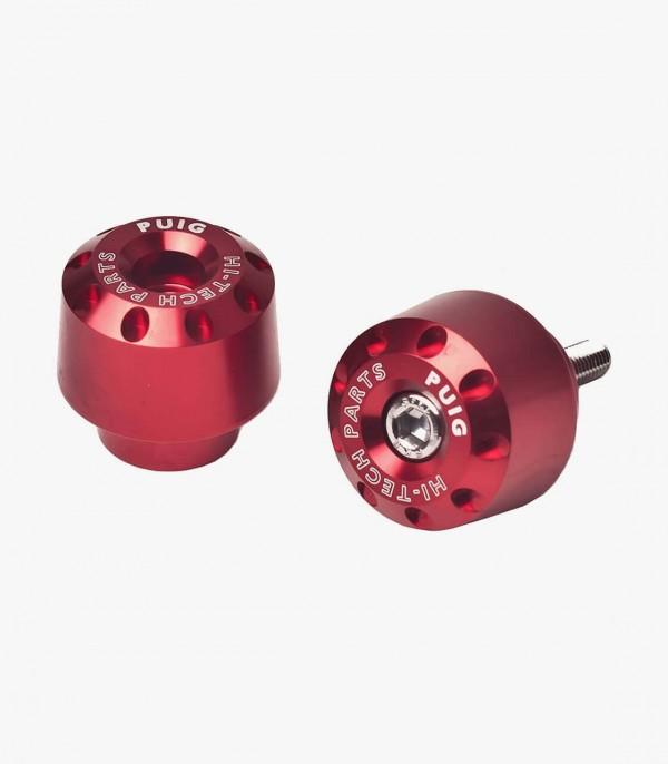 Contrapesos Cortos Puig color Rojo para Yamaha FJR1300A/AS, FZ1, FZ8/Fazer, FZS600 Fazer, R1, R6