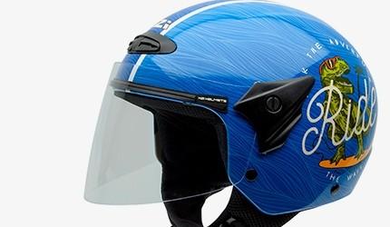 Cascos de moto azules